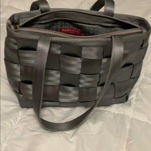 Harvey's grey seatbelt purse
